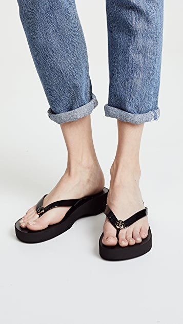 2cca9cc2d10 Tory Burch Cutout Wedge Flip Flops | SHOPBOP
