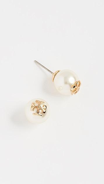 Tory Burch Swarovski Imitation Pearl Stud Earrings