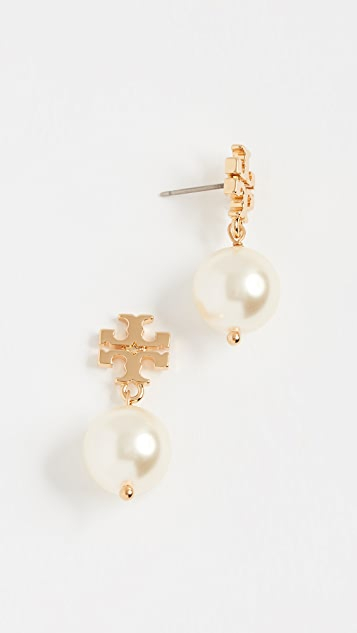 Tory Burch Swarovski Crystal Imitation Pearl Drop Earrings