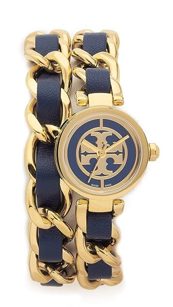 Tory Burch Mini Reva Double Wrap Watch