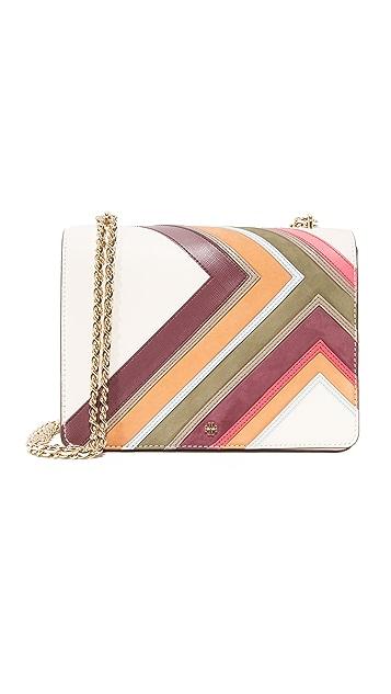 Tory Burch Robinson Multi Stripe Convertible Shoulder Bag