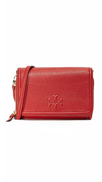 Tory Burch Thea Flat Wallet Crossbody Bag