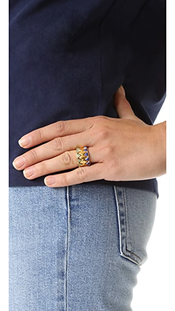 Tory Burch Puzzle Metal Ring Set