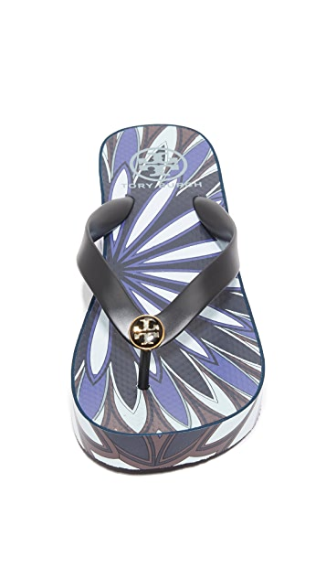 e1d1fa009d9a2b ... Tory Burch Thandie Wedge Flip Flops ...