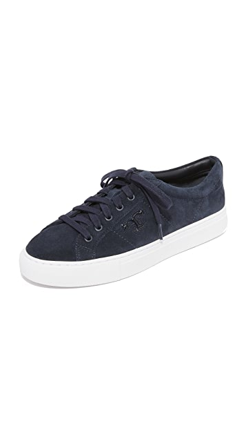 Buy Cheap Best Place Lowest Price Tory Burch Woman Chace Suede Sneakers Navy Size 10 Tory Burch rY6VlvwK2j