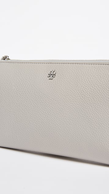 Tory Burch Robinson Pebbled Cross Body Wallet
