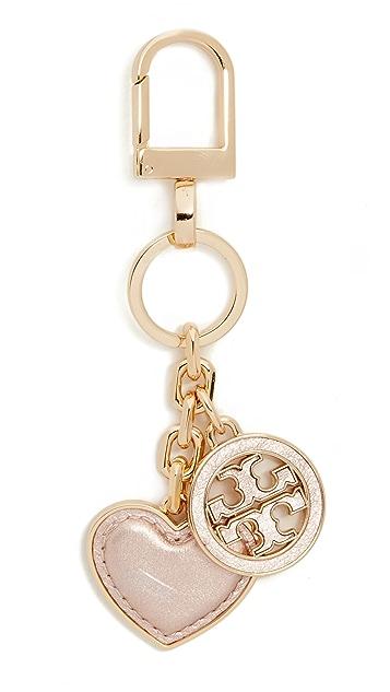 c817b389709e Tory Burch Logo   Heart Keyfob