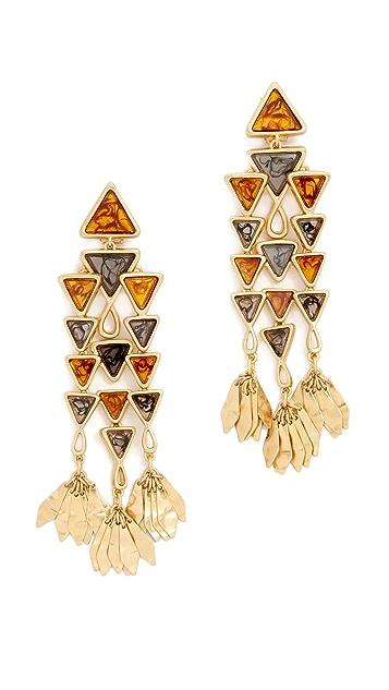 Tory Burch Triangle Chandelier Earrings