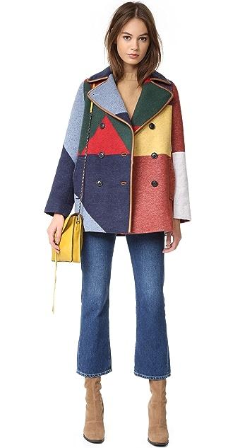 Tory Burch Cheval Pea Coat