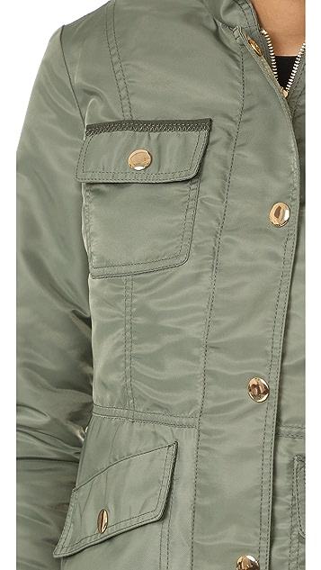 Tory Burch Sgt Pepper Fur Lined Jacket