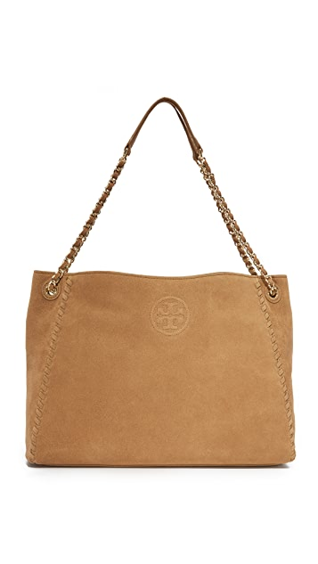 4529dd6ec88 Tory Burch Marion Suede Chain Shoulder Tote