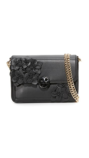 897d4ff1c72 Tory Burch Duet Chain Flower Convertible Shoulder Bag