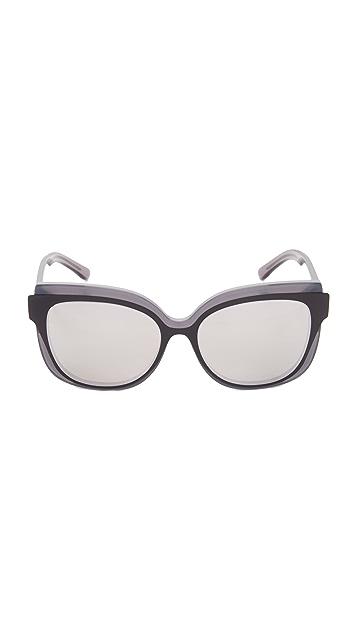 Tory Burch Double Layered Mirrored Sunglasses