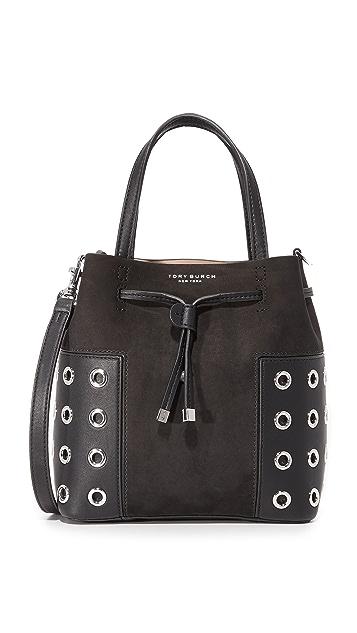 45c8aad3147e Tory Burch Block T Grommet Nano Bucket Bag