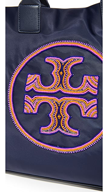 Tory Burch Ella Beaded Logo Tote