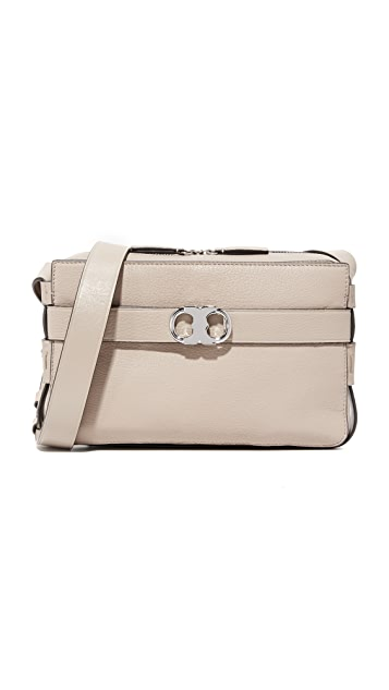 Tory Burch Gemini Leather Camera Bag