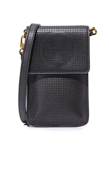 Tory Burch Logo Perf Phone Bag