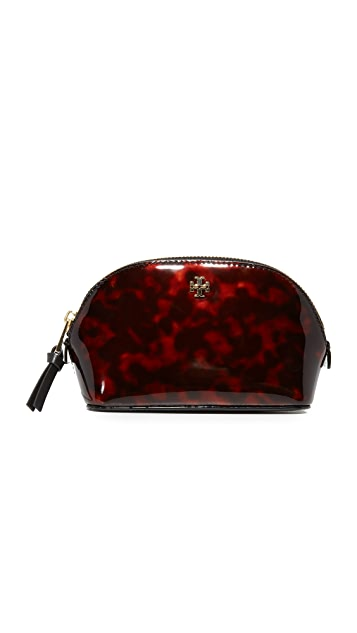 Tory Burch Robinson Tortoise Makeup Bag