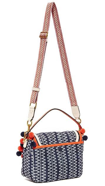 Tory Burch Scout Nylon Pom Pom Cross Body Bag