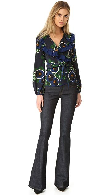 Tory Burch Jacinta Wrap Top