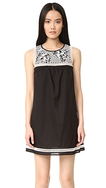 Tory Burch Bay Embroidered Dress
