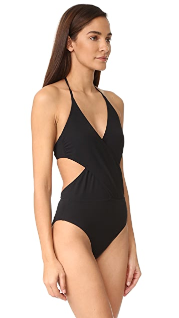 Tory Burch Solid Wrap One Piece