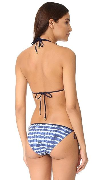 Tory Burch Tie Dye String Bikini Top