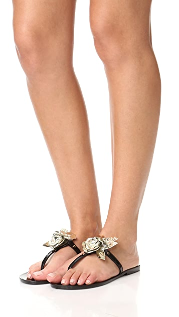 Tory Burch Blossom Jelly Thong Sandals