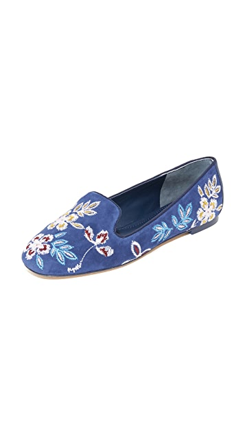 Tory Burch Embroidered espadrille slippers Q3V8fy