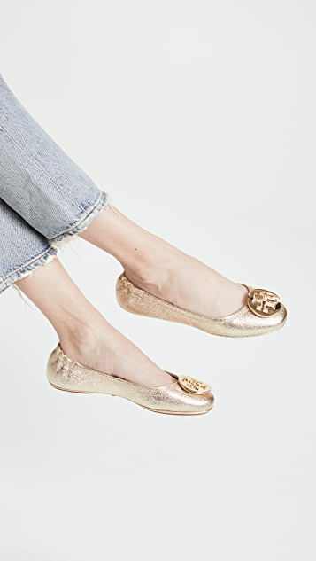 fe979305938 ... Tory Burch Minnie Travel Ballet Flats ...