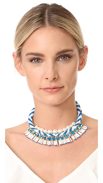 Tory Burch Beaded Statement Necklace