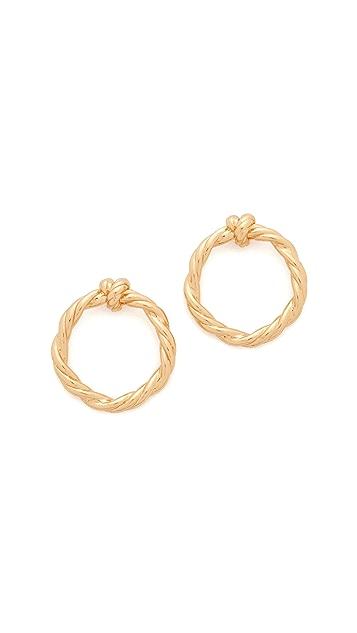 Tory Burch Twisted Knot Earrings