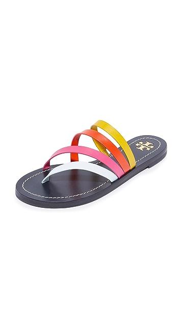 d7d2f2a0e030 Tory Burch Patos Flat Sandals