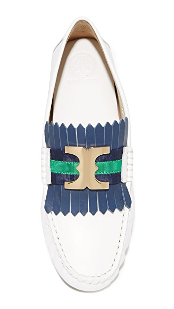 Tory Burch Gemini Link Driver Loafers