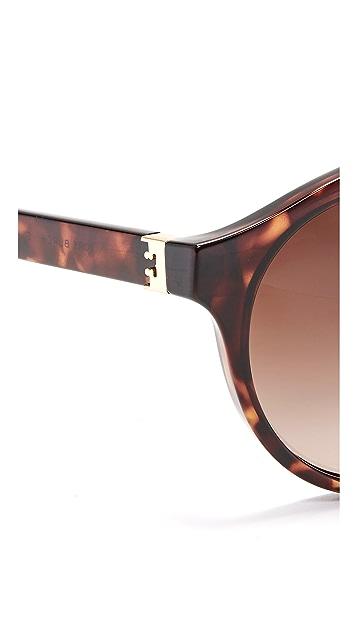 Tory Burch Round Aviator Sunglasses