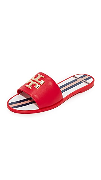 b62537ea082 Tory Burch Logo Jelly Slides ...