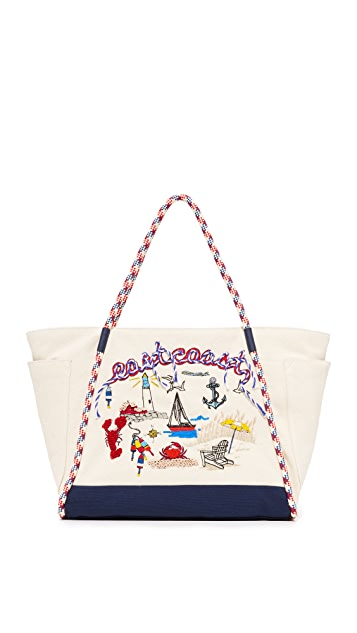 b07d0df4913 Tory Burch Nautical Canvas East Coast Tote