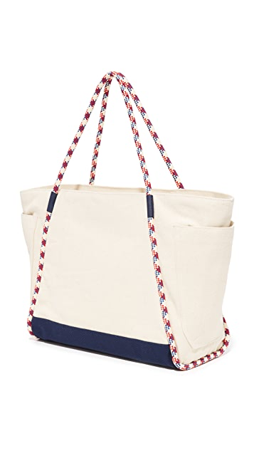 71db3d73054 ... Tory Burch Nautical Canvas East Coast Tote ...