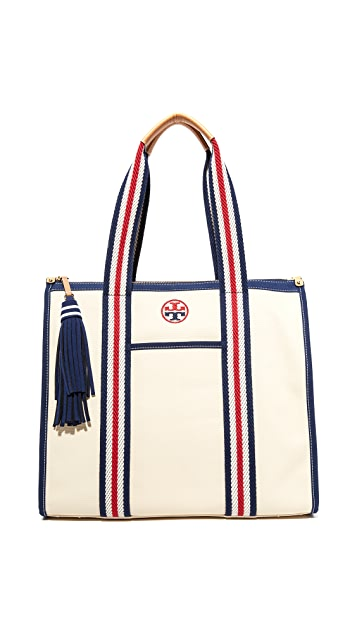 a28c925738f Tory Burch Preppy Canvas NS Tote