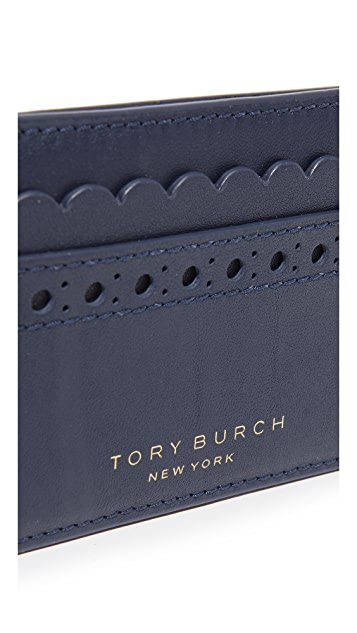 Tory Burch Block T Brogue Slim Card Case