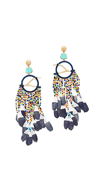 Tory Burch Dreamcatcher Statement Earrings