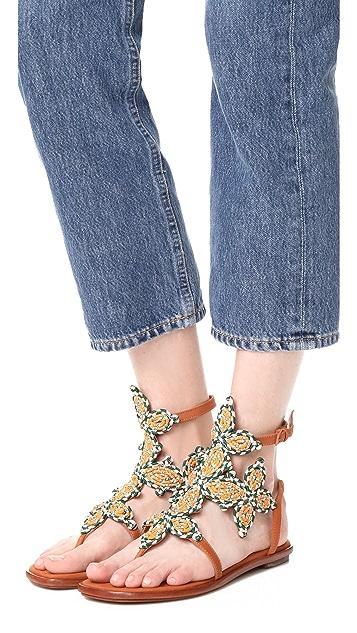 Tory Burch Palisade Flat Sandals