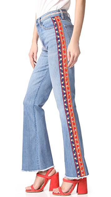 Tory Burch Amy Skinny Flare Jeans