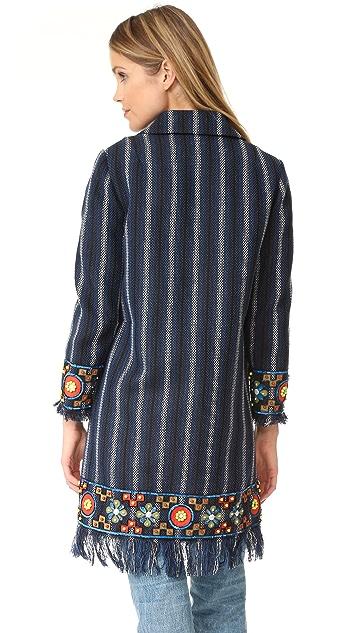 Tory Burch Luna Embellished Coat