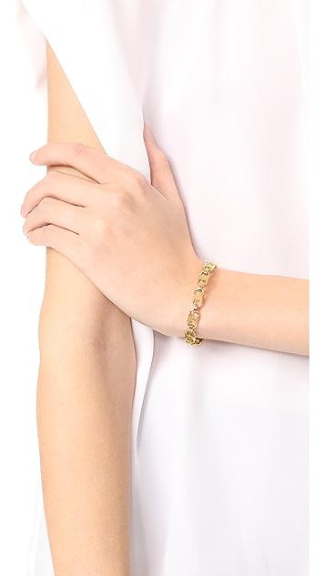Tory Burch Delicate Gemini Link Cuff Bracelet