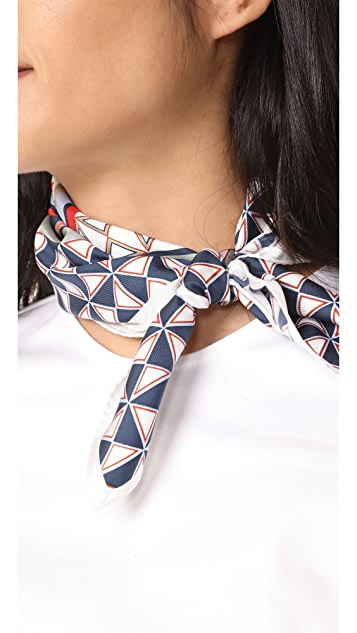 Tory Burch Mixed Geo Neckerchief