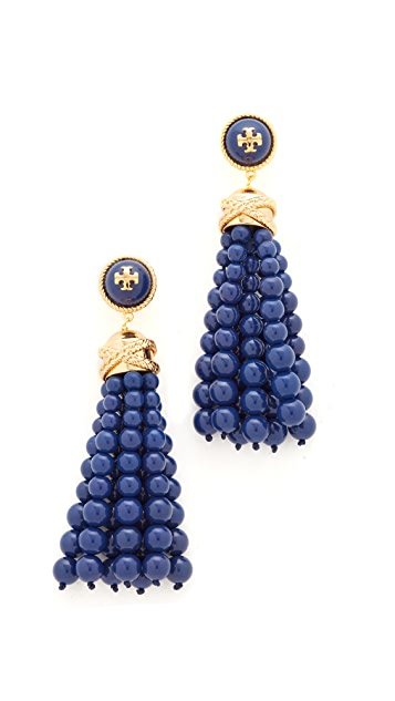 Tory Burch Beaded Tassel Earrings
