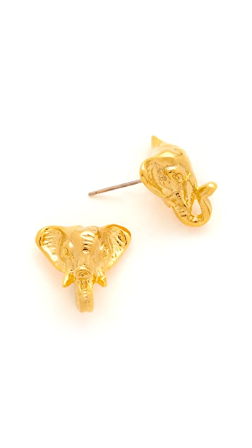 Tory Burch Elephant Stud Earrings
