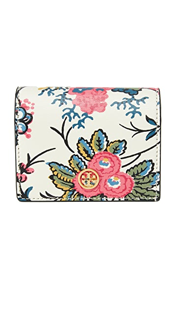 Tory Burch Parker Floral Mini Wallet