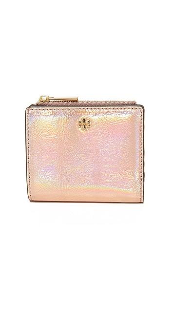 9db95a7bd0b5 Tory Burch Robinson Metallic Mini Wallet ...